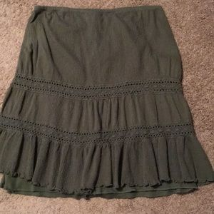 Beautiful Women's Size Medium Olive Green Skirt